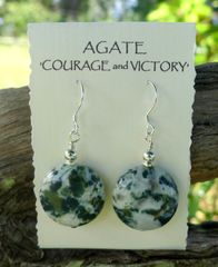 Large Agate and Sterling Silver Earrings