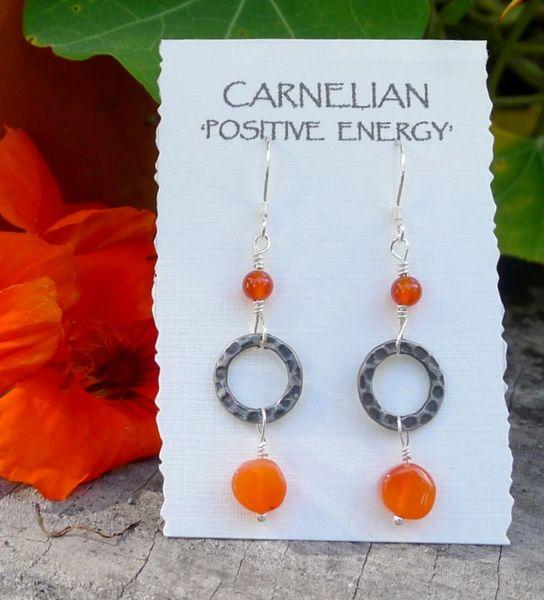 Carnelian and Ring Earrings