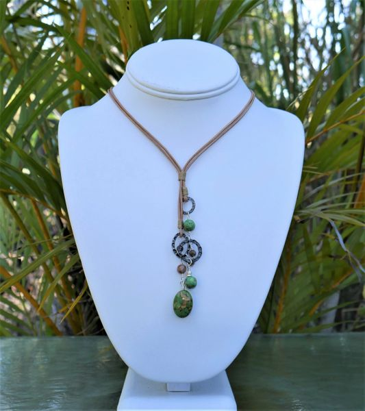 Green Turquoise and Jasper Necklace