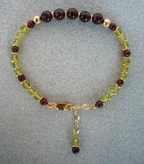 Peridot and Garnet Bracelet