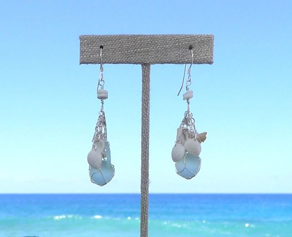 Mermaid Earrings in Light Turquoise