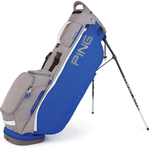 Ping Hoofer Lite Stand Bag - Royal Blue Silver White
