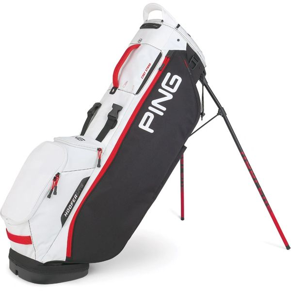 Ping Hoofer Lite Stand Bag - Black White Scarlet Red