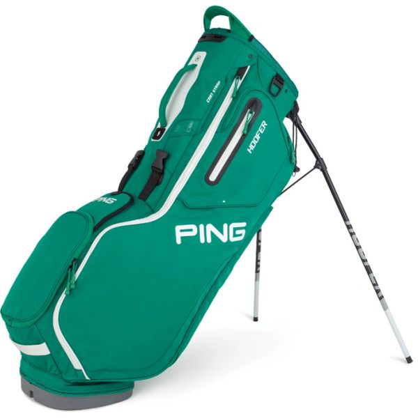 Ping Hoofer Stand Bag - Emerald Green White