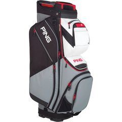 Ping Pioneer Cart Bag - Silver White Scarlet Red Black