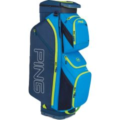 Ping Traverse Cart Bag - Bright Blue Navy Neon