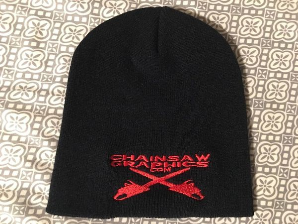 Chainsaw Graphics Knit Beanie
