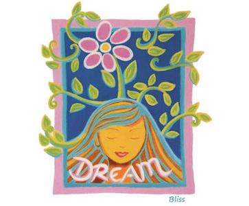 Bliss Manifesting Workshop – Live your dreams art image.