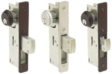 ADAM RITE LOCK IS THE LOCK TO USE ON A GLASS DOORS WITH  ALUMINUM FRAMES.