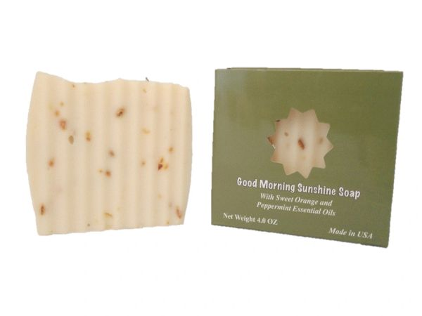"""Good morning Sunshine"" Natural Soap with Peppermint & Sweet Orange"