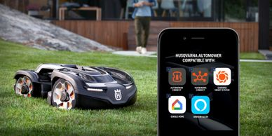 Basic user installation link for Automower. IFTTT App connection. Smart phone enabled. Mow your grass while out to dinner.