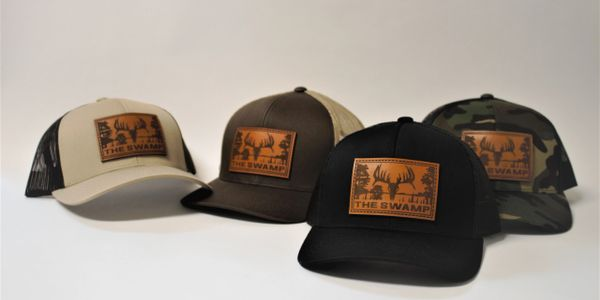 The Swamp Whitetails Leather Patch Hats