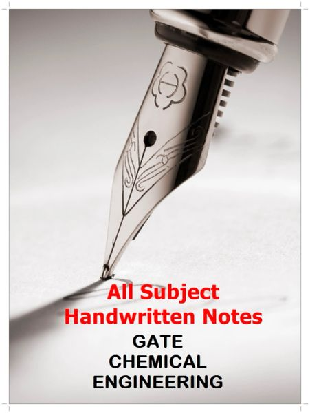000  GATE Chemical Engineering Handwritten Notes (By AIR 13)