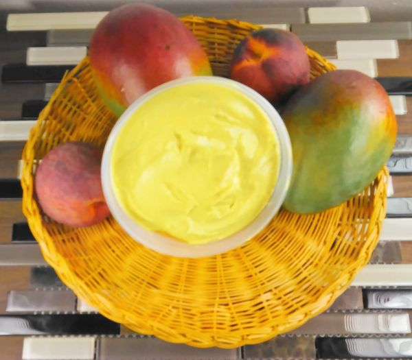 Delicious Mango Peach Whipped Shea Butter 8 oz