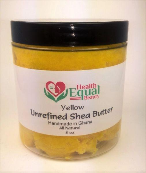 Yellow Unrefined Shea Butter 8 oz jar