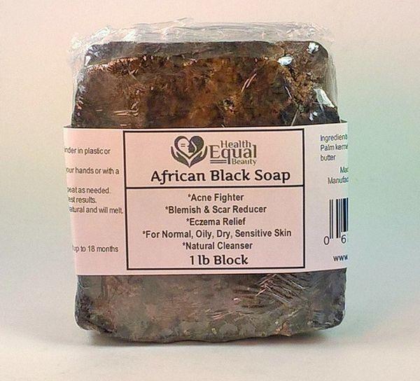 Pure African Black Soap 1 lb block