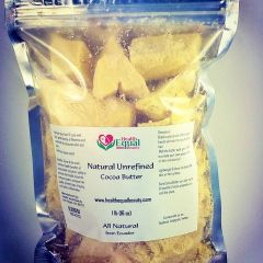 Natural Unrefined Cocoa Butter 1lb package