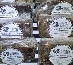 Pure African Black Soap 6 bar Value pack