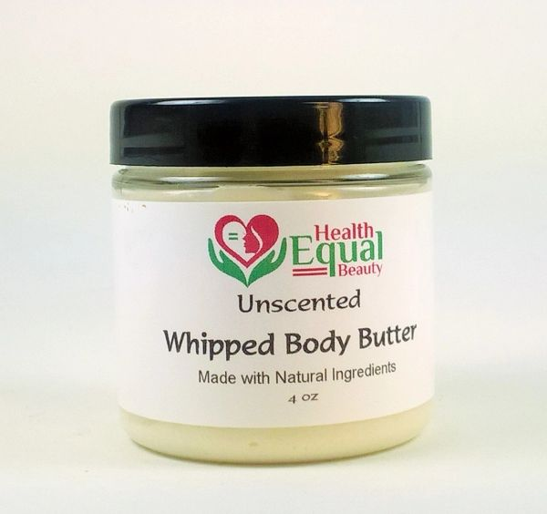 Unscented whipped body butter 4 oz