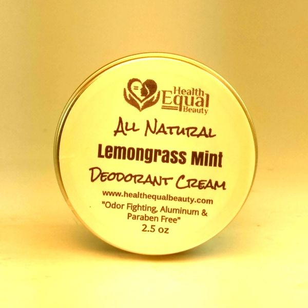 All Natural Lemongrass Mint Deodorant Cream 2.5 oz