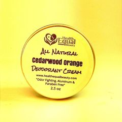 All Natural Cedarwood Orange Deodorant Cream 2.5 oz