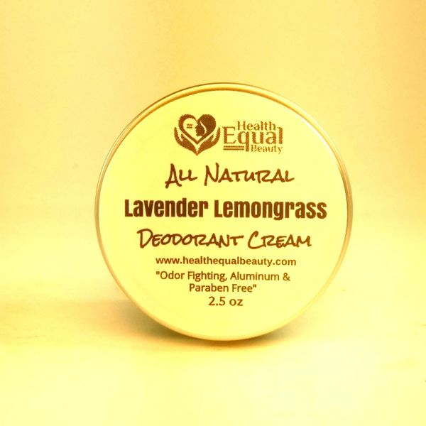 All Natural Lavender Lemongrass Deodorant Cream 2.5 oz