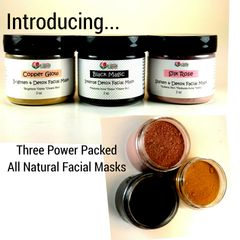 3 Power Packed All Natural Facial Mask Set