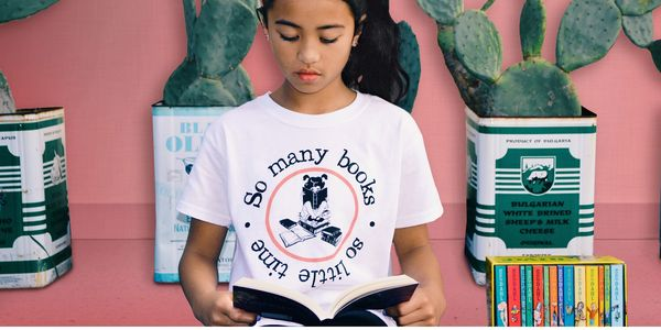 Ethically sourced Book Tees Girls Smartwear for the avid reader in her.