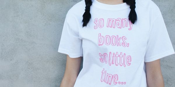 Girls Book Tees available in sizes 4 to 10. Suitable for Teens.