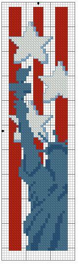 Liberty Cross Stitch Bookmark