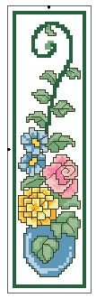 Rose 1 Counted Cross Stitch Bookmark