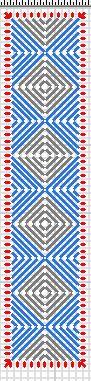 Squares Plastic Canvas Bookmark #1