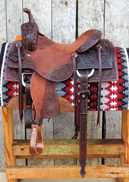 15 1 4 Quot Dc Cow Horse Gear Custom Cutting Saddle Floral