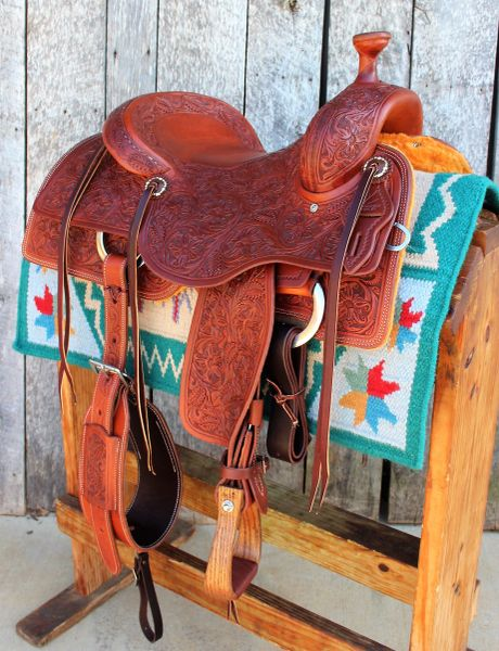 16 Quot Dc Cow Horse Gear Custom Ranch Cutter Full Floral