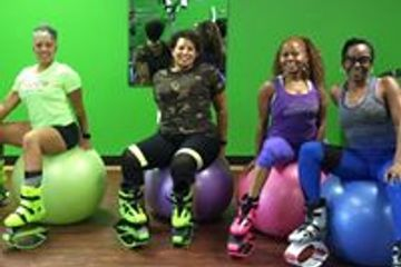 SweattBoxx Wellness Center Body Sculpt Fitness Classes with Bounce Boots in Indianapolis Kangoo Jump