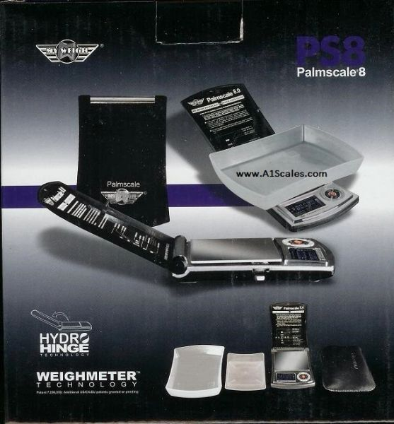 MYWEIGH PS8 PALMSCALE 8.0 DIGITAL SCALE 800g x 0.1g Capacity 7 weigh modes