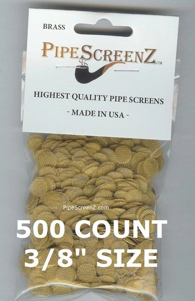 "500+ Count 3/8"" (0.375"") Brass Pipe Screens Made in the USA!"