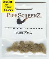 "100+ Count 1/4"" (0.250"") Brass Pipe Screens Made in the USA!"