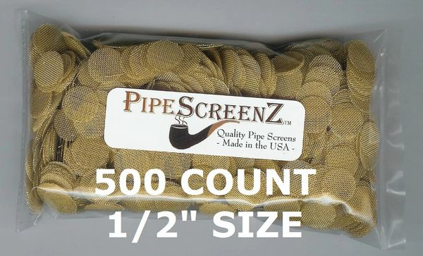 "500+ Count 1/2"" (0.500"") Brass Pipe Screens Made in the USA!"