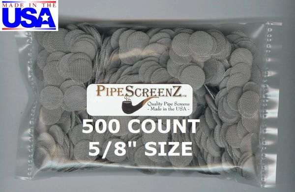 "500+ Count 5/8"" (0.625"") Stainless Steel Pipe Screens Made in the USA!"