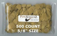 "500+ Count 5/8"" (0.625"") Brass Pipe Screens Made in the USA!"
