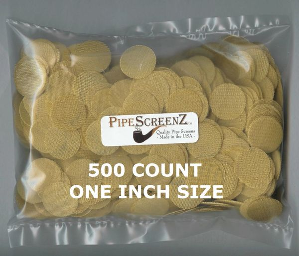 """500+ Count ONE INCH (1.00"""") Brass Pipe Screens Made in the USA!"""