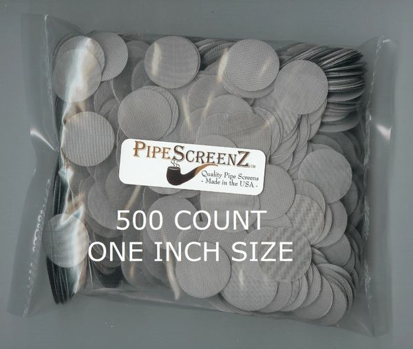 500+ Count ONE INCH Stainless Steel Pipe Screens Made in the USA!