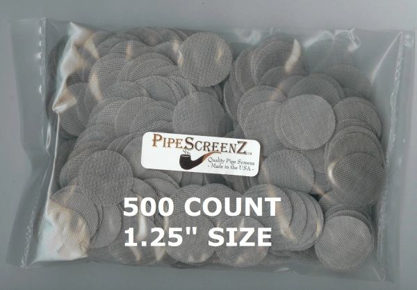 "500+ Count 1.25"" (1.250"") Stainless Steel Pipe Screens Made in the USA!"