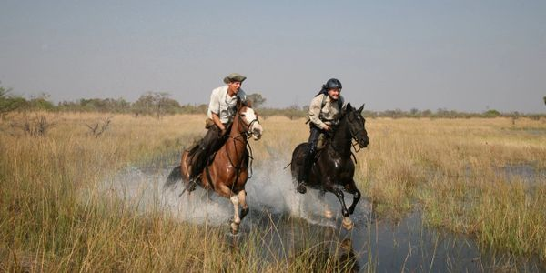 Horseback safari in the Okavango Delta, Botswana