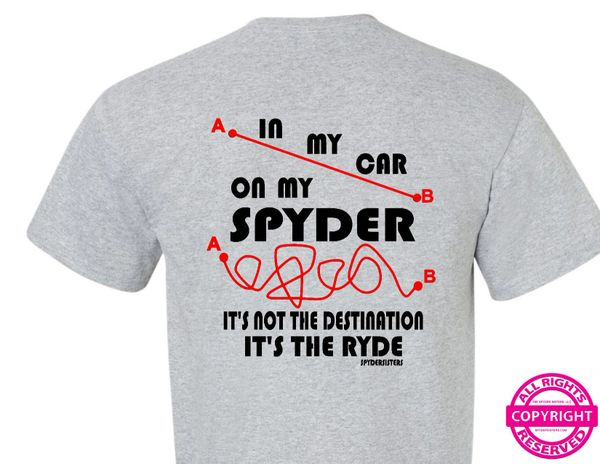 Can Am Spyder - It's Not The Destination it's the Ryde - short sleeve