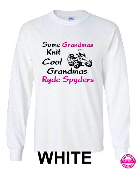Some Grandmas Knit, Cool Grandmas Ryde Spyders - Long Sleeve