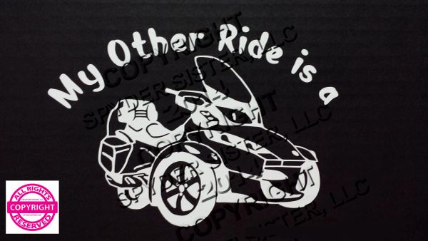 Can Am Spyder Vehicle Decal Sticker - My Other Ride