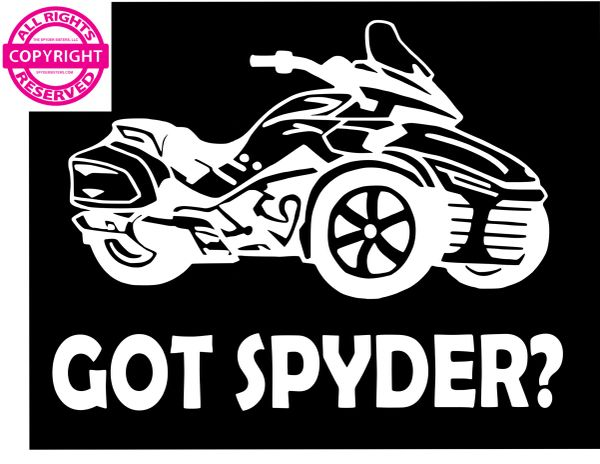 Can Am Spyder Vehicle Decal Sticker - Got Spyder?