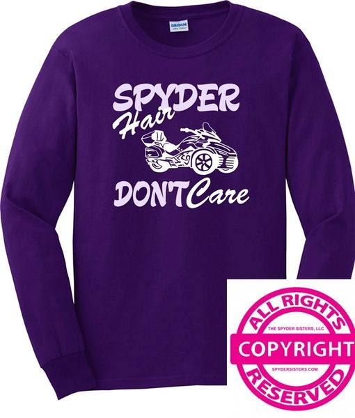 Can Am Spyder - Spyder Hair, Don't Care - Long Sleeve